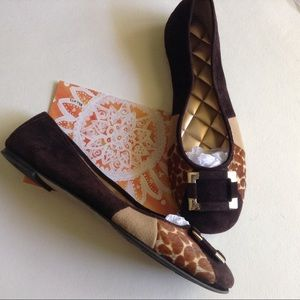 Alex Marie  brown buckle flats